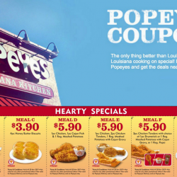 Popeyes: Print & Present Coupons to Enjoy Savings At All Outlets!