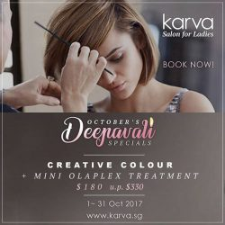 [KARVA SALON FOR LADIES] Hello Ladies, we are open tomorrow for all of you ladies to enjoy the Deepavali Specials.