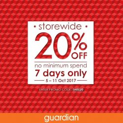 [Guardian] Go ahead and go wild — Guardian's 20% Storewide Sale is on!