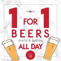[redpan] This October, have a cold one and usher in the weekend with Redpan's new 1-for-1 promo on