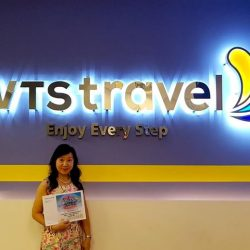 [WTS TRAVEL] Congratulations to Ms Liew Lan Yin for winning the 1st prize - 2-night stay at Club Med Bintan Island resort (