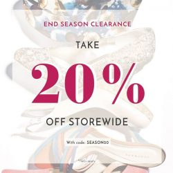 [Heatwave] ONLINE EXCLUSIVE: End season clearance - 20% off storewide, you wouldn't want to miss it!