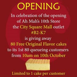 [City Square Mall] Ah Mah Homemade Cake has arrived at City Square Mall!