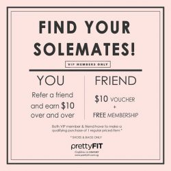 [prettyFIT/BeetleBug] prettyFIT Members' Referral: From now till 12 Nov, refer a friend and EARN $10 over & over; your friend will get $