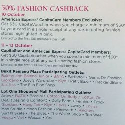[JOEY'S WARDROBE] 50% Fashion Cashback 11 to 13 October Spend $60 to get back $30 CapitaVoucher Prepare to Shop @ Joey's Wardrobe