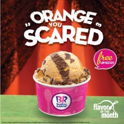 [Baskin Robbins] Have a scoop of spookylicious Orange You Scared today!