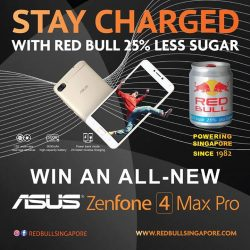 [Newstead Technologies] Stay charged with ASUS ZenFone 4 Max Pro & Red Bull 25% Less Sugar!