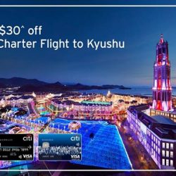 [Citibank ATM] Visit beautiful Kyushu and get $50 + $30^ off First Charter Flight by SilkAir from $1,988*.