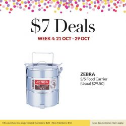 [ToTT Store] An Acrylic Ice Bucket, Safico Teflon Non-Stick Baking Mat and Zebra S/S Food Carrier all for $7 each