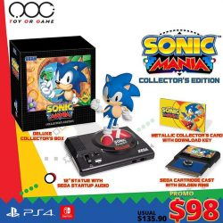 [TOG] PS4/Nintendo Switch SONIC MANIC Collector's Edition PROMO $98 Usual $135.