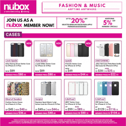 [Nübox] Fashion up your iPhone with the latest cases offerings from us.