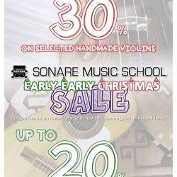 [Sonare Music School] Never too early to shop for Christmas, especially with our Early Early Christmas sale around.
