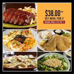 [Tony Roma's] Hurry, Tony Roma's Super Value Set Meal for 2 is ending on 31 October 2017.