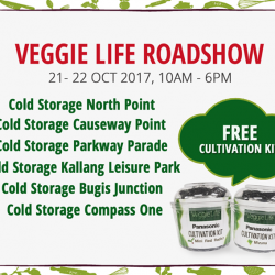[Panasonic] Stock up on fresh and healthy greens at our Veggie Life roadshows this weekend!
