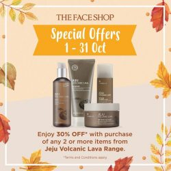 [THE FACE SHOP Singapore] Here are more THEFACESHOP Special Offers coming your way this October!