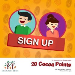 [The Cocoa Trees] New members receive 20 cocoa points free (instead of 10 cocoa points) Hurry up!