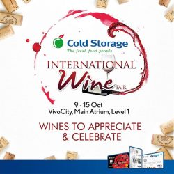 [UOB ATM] It's wine o' clock all-day long this week with Cold Storage's International Wine Fair happening at VivoCity