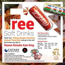 [Keisuke Ramen] This is your last chance to get FREE soft drinks!