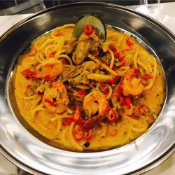 [49 Seats] This is the REAL deal 🔥 Have you challenge yourself to the Level 49 Spicy Tom Yum Pasta?