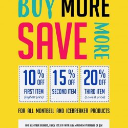 [X-Boundaries (Montbell, Icebreaker, CAMP)] Save more when you buy more!