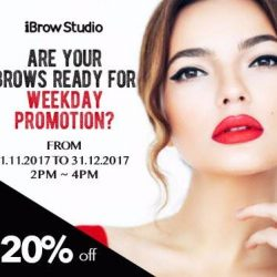 [iBrow Studio] Free up your time slots for our attractive 20% promotional prices from the month of November to December (Weekdays) for