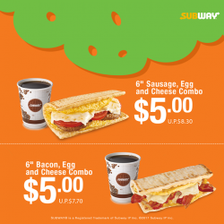 [Subway Singapore] Which one will be your breakfast companion?