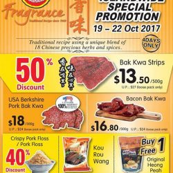[Fragrance Bak Kwa] Get 50% OFF on our popular Bak Kwa Strips with min purchase 500gBacon Bak Kwa only at $16.