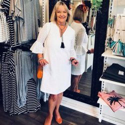 [Mico Boutique] Our beautiful customer Michelle headed off to the races today in the divine Sophia Dress - We love the pop of
