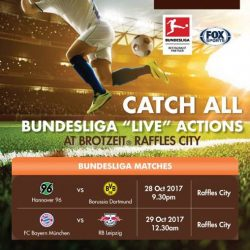 [Brotzeit German Bier Bar and Restaurant] Catch the live screening of Bundesliga this weekend at Brotzeit Raffles City!