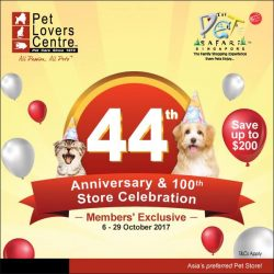 [Anchorpoint] Pet Lovers Centre's 44th Anniversary Promotion is now on!