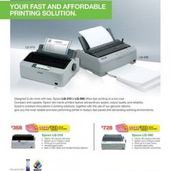 [Newstead Technologies] FREE NTUC Vouchers when you purchase Epson LQ-310 and LQ-590 model printers at Newstead & Digital Style stores.