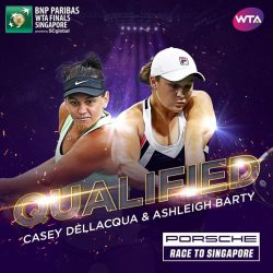 [OCBC ATM] All-Australian pair Ashleigh Barty and Casey Dellacqua will be making their debut appearance at the star-studded WTAFinals in