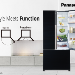 [Panasonic] Ease of use and an energy-saving feature all wrapped up in a tres chic design—the Panasonic NR-CY558GK