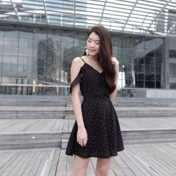 [MDSCollections] Preorder On | Freesia Cami Dress in Black Polka Dots