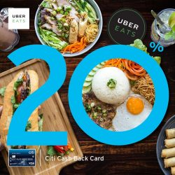 [Citibank ATM] Get savings on your cravings when you order UberEATS with your Citi Cash Back Card!
