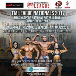 [Pink Parlour] Tickets to SINGAPORE'S LARGEST PHYSIQUE SPORTS EVENT -The FM LEAGUE NATIONALS 2017 and FM LEAGUE ASIA CHAMPIONSHIP 2017 are