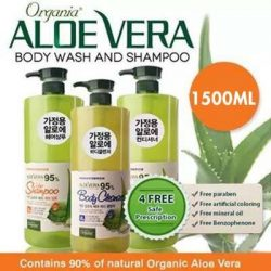 [NICE Cosmetics] Organia 95% Aloe Vera Shampoo/Conditioner/Bodywash is having a Special Promotion at $11.