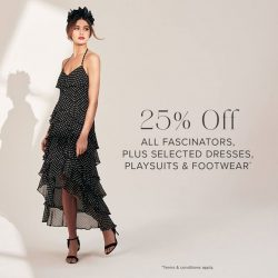 [Forever New] 25% Off All Fascinators PLUS Selected Dresses, Playsuits, and Footwear* Shop Fascinators: https://www.
