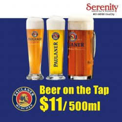 [Serenity Spanish Restaurant] Beer made us hoppy and we hope you'll be happy!