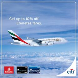 [Citibank ATM] Fly to exciting new places with Emirates and save up to 10% on Flex and Flex Plus fare, or a