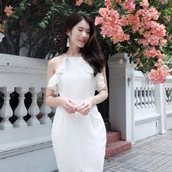 [MDSCollections] Featuring one of our best sellers - Sale items | Ruffle Halter Dress in White