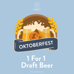 [Aerotel] Celebrate Oktoberfest with us at Aerotel with our wide range of alcoholic drinks!