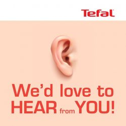 [Tefal] 10 lucky winners will stand a chance to walk away with $50 TungLok cash voucher when you participate in our
