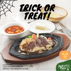 [Jack's Place] No need to trick your friends this Halloween, just treat them to one of our scrumptious daily lunch set meals!