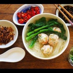 [THE SEAFOOD MARKET PLACE BY SONG FISH] Rice Vermicelli Soup With Shrimp BallsHearty, Wholesome, Healthy food.