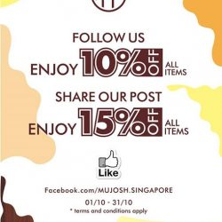 [MUJOSH] Follow us on Facebook and share any of our post to enjoy up to 15% discount on all sunglasses, glasses