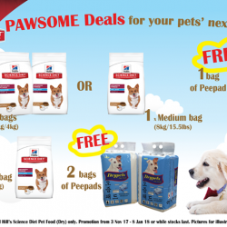 [Pet Lovers Centre Singapore] From now until January, we're running great deals on Hill's Science diet pet food!