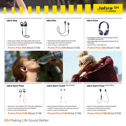 [Newstead Technologies] It's time to get Jabra Wireless earphones and headsets as they are on massive offer!