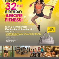 [Amore Fitness] To celebrate our birthday in November, enjoy our exclusive 3 months Fitness Membership for the price of 2!
