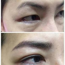 [Brow Art Studio] Natural Eyebrow embroidery that you can't tell the difference from real done by our master artist Jenny.